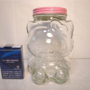 ハローキティ 瓶 小物入れ等にいかがでしょう 高さ約17cm サンリオ xbhh23【中古】|alice-sbs-y