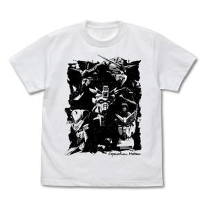 新機動戦記ガンダムW オペレーションメテオ MS Tシャツ WHITE Sサイズ コスパ【予約/6月末〜7月上旬】|alice-sbs-y