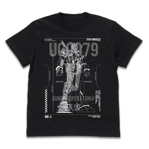 機動戦士ガンダム グッズ V作戦 RX-78-2 ガンダム Tシャツ BLACK Sサイズ コスパ【予約/10月末〜11月上旬】|alice-sbs-y