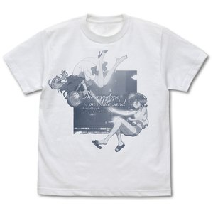 白い砂のアクアトープ グッズ くくる&風花アクアリウム Tシャツ WHITE Lサイズ コスパ【予約/9月末〜10月上旬】 alice-sbs-y