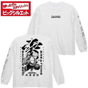 鬼滅の刃 グッズ 我妻善逸 ビッグシルエットロングスリーブTシャツ WHITE XLサイズ コスパ【予約/11月末〜12月上旬】|alice-sbs-y