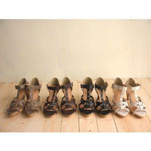 三つ編み×スタッズ コルクヒールがオシャレなグラディエータサンダル(ブーツサンダル)送料無料|alice-shoes|02