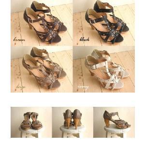 三つ編み×スタッズ コルクヒールがオシャレなグラディエータサンダル(ブーツサンダル)送料無料|alice-shoes|06