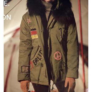 ミリタリージャケット ファーフード 刺繍 ビジュー ジャケット 2015 新作 レディース 大人 alice-style