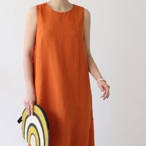 ワンピース レディース 40代 50代 60代 ファッション おしゃれ 女性 上品  ベージュ ノースリーブ 無地 ロング丈 春夏 ミセス alice-style