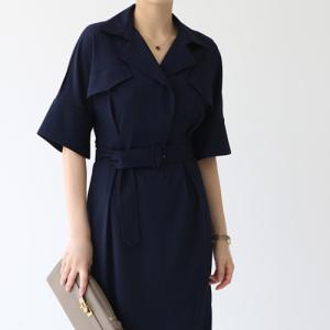 ワンピース レディース 40代 50代 60代 ファッション おしゃれ 女性 上品  ベージュ  紺 青 半袖 膝丈 無地 きれいめ 春夏 ミセス alice-style