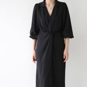 ワンピース レディース 40代 50代 60代 ファッション おしゃれ 女性 上品  黒 無地 ロング丈 きれいめ 春夏 ミセス alice-style