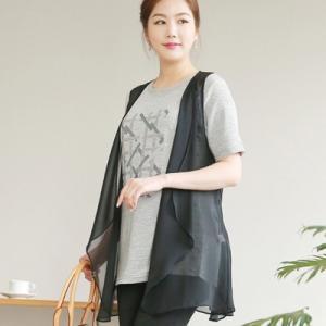 ベスト レディース 40代 50代 60代 ファッション 女性 上品  黒 薄手 ハーフ丈 きれいめ 春夏 ミセス|alice-style