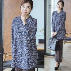 ブラウス レディース 40代 50代 60代 ファッション 女性 上品  グレー 長袖 柄 きれいめ 春夏 ミセス|alice-style