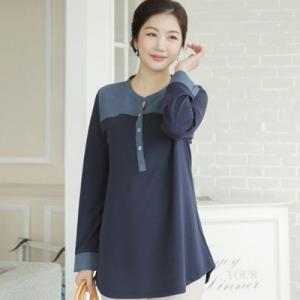 ブラウス レディース 40代 50代 60代 ファッション 女性 上品  黒  茶色  紺 青 長袖 切り替え 春夏 ミセス|alice-style