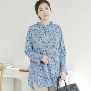 ブラウス レディース 40代 50代 60代 ファッション 女性 上品  ベージュ 長袖 きれいめ 花柄 フラワー 春夏 ミセス|alice-style