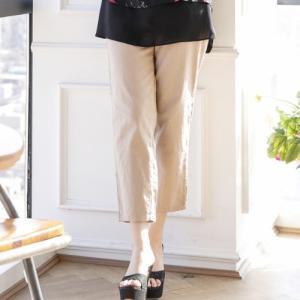 パンツ レディース 40代 50代 60代 ファッション 女性 上品  白  ベージュ スラックス きれいめ 春夏 ミセス|alice-style