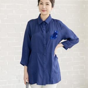 ブラウス レディース 40代 50代 60代 ファッション 女性 上品 長袖 無地 きれいめ 春夏 ミセス|alice-style