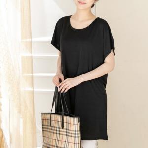 ワンピース レディース 40代 50代 60代 ファッション 女性 上品 チュニック 無地 半袖 春夏 ミセス|alice-style