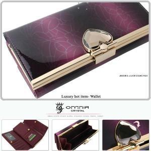長財布 レディース 財布 がま口 二つ折れ 本革 ブランド OMNIA オムニア レザー 秋新作 30代 40代 50代 ファッション|alice-style