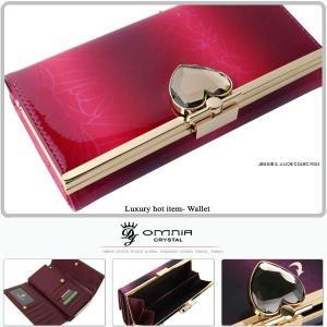 OMNIA 財布 長財布 レディース 財布 がま口 二つ折れ 本革 ブランド 30代 40代 50代|alice-style
