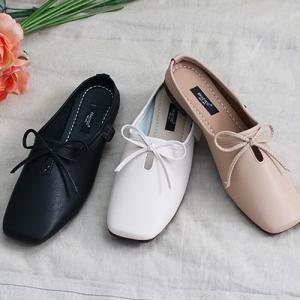 バブーシュ レディース フラットシューズ 2019 春 ファッション 靴 婦人靴 黒 ベージュ カーキ 緑|alice-style