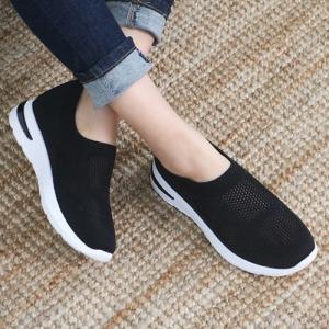 スニーカー レディース スリッポン メッシュ 2019 春 ファッション 靴 婦人靴 黒 白 ベージュ グレー|alice-style