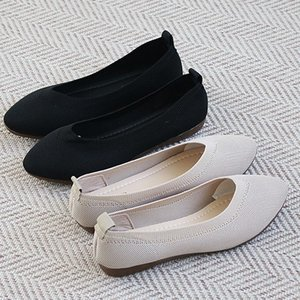 フラットパンプス レディース ポインテッドトゥ ペタンコ 2019 春 ファッション 靴 婦人靴 黒 ベージュ|alice-style