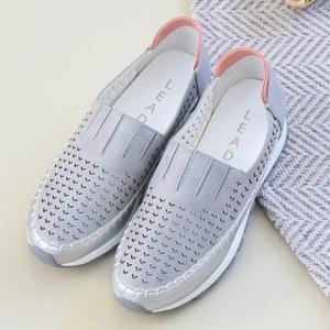 スニーカー レディース スリッポン メッシュ 2019 春 ファッション 靴 婦人靴 白 グレー|alice-style