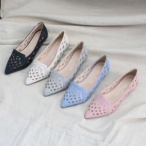 パンプス レディース ローヒール ポインテッドトゥ メッシュ 2019 春 ファッション 靴 婦人靴 黒 ベージュ グレー|alice-style