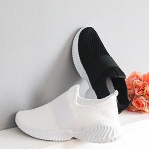 スリッポン レディース スニーカー メッシュ 2019 春 ファッション 靴 婦人靴 黒 白|alice-style