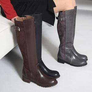 ロングブーツ 太ヒール ローヒール シンプル ブーツ レディース 秋 ファッション レディース 靴 婦人靴 30代 40代