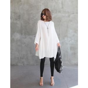 チュニック 無地 ワンピース 春 レディース 体形カバー 新作 ワンピ 40代 50代 60代 ファッション 白 大きいサイズ 女性 上品|alice-style|02