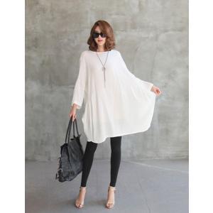チュニック 無地 ワンピース 春 レディース 体形カバー 新作 ワンピ 40代 50代 60代 ファッション 白 大きいサイズ 女性 上品|alice-style|03