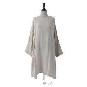 チュニック 無地 ワンピース 春 レディース 体形カバー 新作 ワンピ 40代 50代 60代 ファッション 白 大きいサイズ 女性 上品|alice-style|05