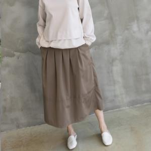 スカート レディース 40代 50代 60代 ファッション おしゃれ 女性 上品 黒 ベージュ Aラインロングスカート タック切替 冬 ミセス|alice-style