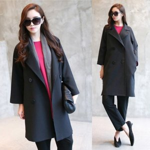ダブルボタン コート レディース コート グレー 黒 ブラック コート 30代 40代 50代 レディース alice-style