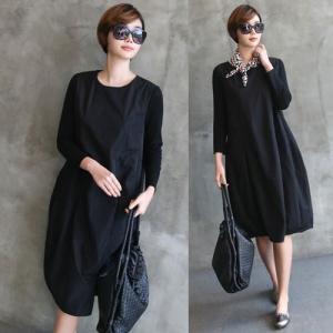 ワンピース レディース 40代 50代 60代 ファッション 女性 上品 ミセス 黒 体型カバー きれいめ 高級感|alice-style