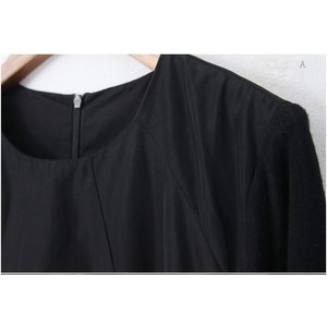 ワンピース レディース 40代 50代 60代 ファッション 女性 上品 ミセス 黒 体型カバー きれいめ 高級感|alice-style|02