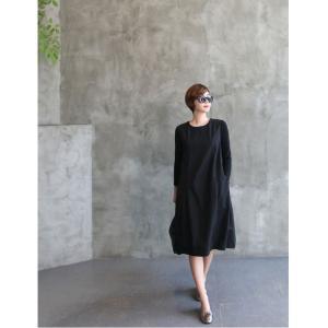 ワンピース レディース 40代 50代 60代 ファッション 女性 上品 ミセス 黒 体型カバー きれいめ 高級感|alice-style|11