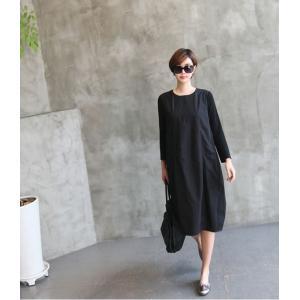 ワンピース レディース 40代 50代 60代 ファッション 女性 上品 ミセス 黒 体型カバー きれいめ 高級感|alice-style|13