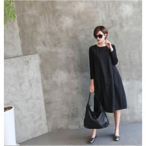 ワンピース レディース 40代 50代 60代 ファッション 女性 上品 ミセス 黒 体型カバー きれいめ 高級感|alice-style|14