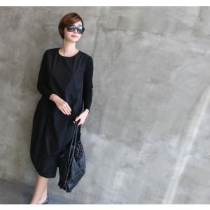 ワンピース レディース 40代 50代 60代 ファッション 女性 上品 ミセス 黒 体型カバー きれいめ 高級感|alice-style|15