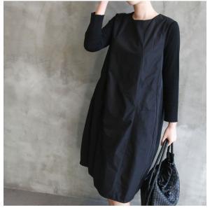 ワンピース レディース 40代 50代 60代 ファッション 女性 上品 ミセス 黒 体型カバー きれいめ 高級感|alice-style|16