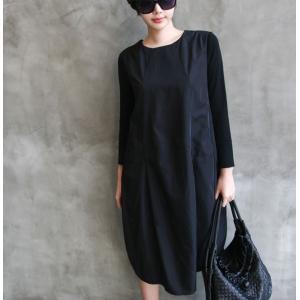 ワンピース レディース 40代 50代 60代 ファッション 女性 上品 ミセス 黒 体型カバー きれいめ 高級感|alice-style|17