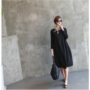 ワンピース レディース 40代 50代 60代 ファッション 女性 上品 ミセス 黒 体型カバー きれいめ 高級感|alice-style|18