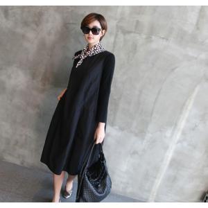 ワンピース レディース 40代 50代 60代 ファッション 女性 上品 ミセス 黒 体型カバー きれいめ 高級感|alice-style|19