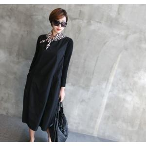 ワンピース レディース 40代 50代 60代 ファッション 女性 上品 ミセス 黒 体型カバー きれいめ 高級感|alice-style|08