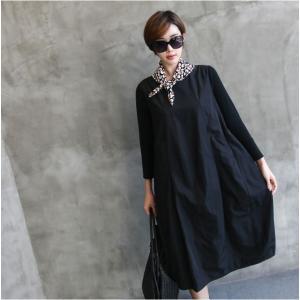 ワンピース レディース 40代 50代 60代 ファッション 女性 上品 ミセス 黒 体型カバー きれいめ 高級感|alice-style|09