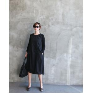 ワンピース レディース 40代 50代 60代 ファッション 女性 上品 ミセス 黒 体型カバー きれいめ 高級感|alice-style|10