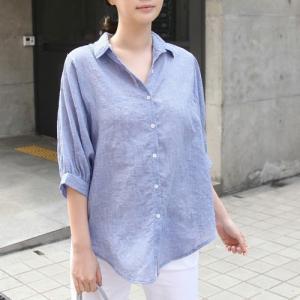 シャツ レディース 大人 ブラウス 5分袖 無地 シンプル 秋冬 40代 50代 60代 ファッション 女性 上品 ミセス 白 グレー|alice-style