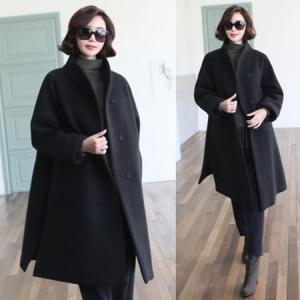 コート レディース 大人 2018 秋冬 冬 50代 40代 ファッション 女性 黒 グレー|alice-style
