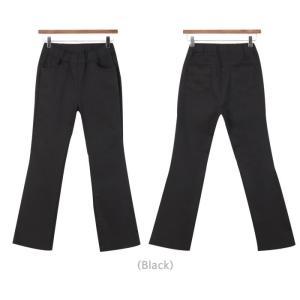 パンツ レディース 40代 50代 60代 ファッション おしゃれ 女性 上品 黒 ブーツカットパンツ 前ポケット 無地 冬 ミセス|alice-style|15