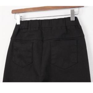 パンツ レディース 40代 50代 60代 ファッション おしゃれ 女性 上品 黒 ブーツカットパンツ 前ポケット 無地 冬 ミセス|alice-style|19