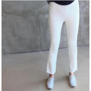 パンツ レディース 40代 50代 60代 ファッション おしゃれ 女性 上品 黒 ブーツカットパンツ 前ポケット 無地 冬 ミセス|alice-style|08